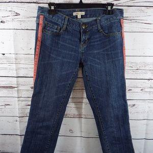 Cabi Capri Johnny Crop Tux Blue Jeans Pants Size 4
